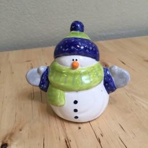 Snowman in Seahawk colors