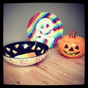 Halloween pottery