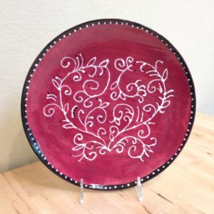 Plate with heart