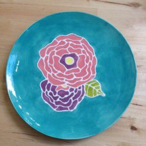 Plate w/flowers
