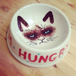"""I'm Hungry"" Cat Dish"