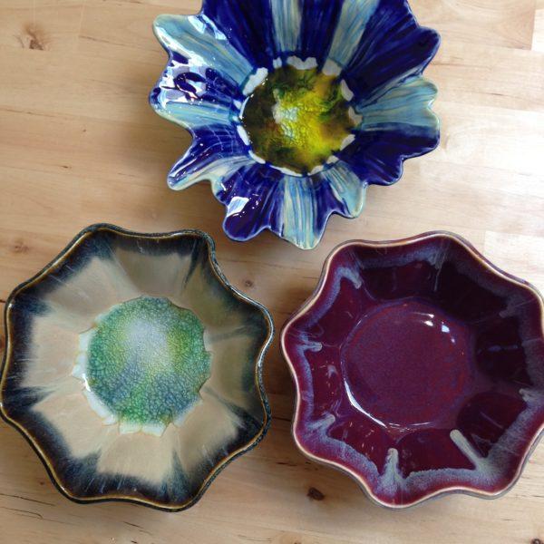 Handbuilt bowls.