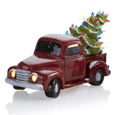 Vintage Truck with Tree